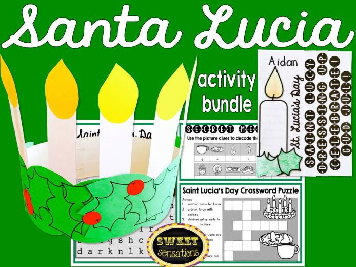 Santa Lucia activity resource bundle