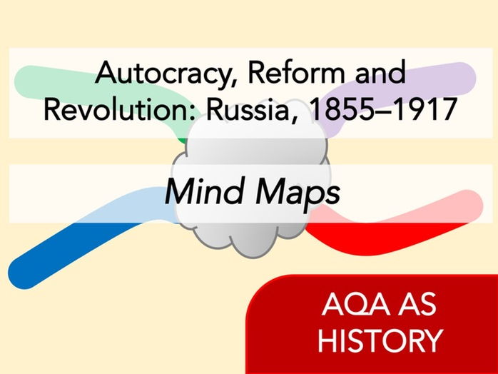 AQA History - Autocracy, Reform and Revolution: Russia, 1855–1917 - Mind Maps [Revision / Handout]