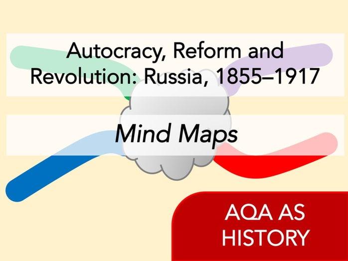 AQA History - Autocracy, Reform and Revolution: Russia, 1855–1917 - Mind Maps