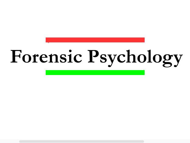 Forensic Psychology A Level Psychology essay plans