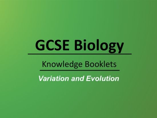 Variation and Evolution Knowledge Booklet