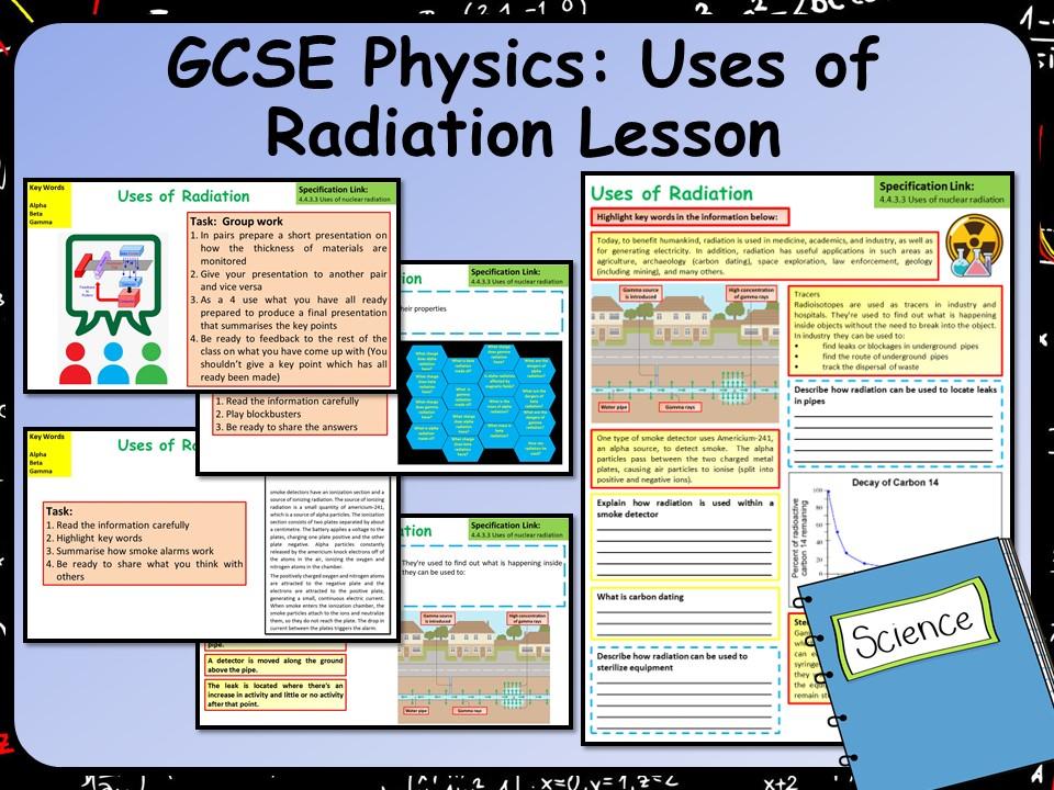 AQA KS4 GCSE Physics (Science) Uses of Radiation Lesson