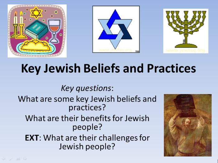Key Jewish Beliefs and Practices
