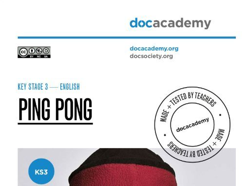 Ping Pong - KS3 English - Full Lesson Plan
