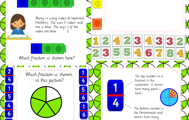 Fractions: Making Fractions Using Cubes