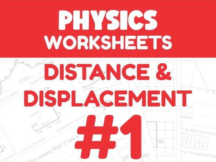 Distance & Displacement - Motion Worksheet #1 (Distance Learning Support)