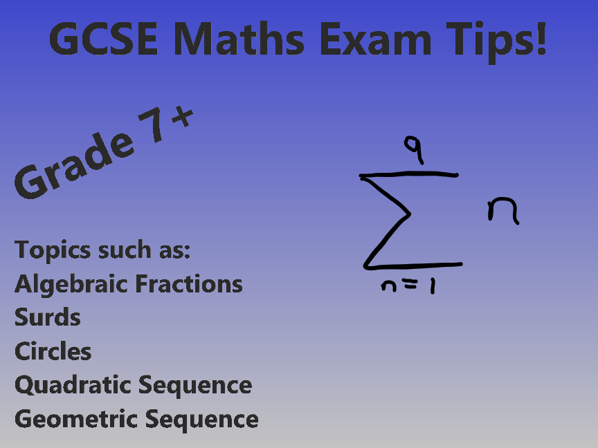 GCSE Maths 9-1 Exam Tips And Revision Help! (GRADE 7-9)