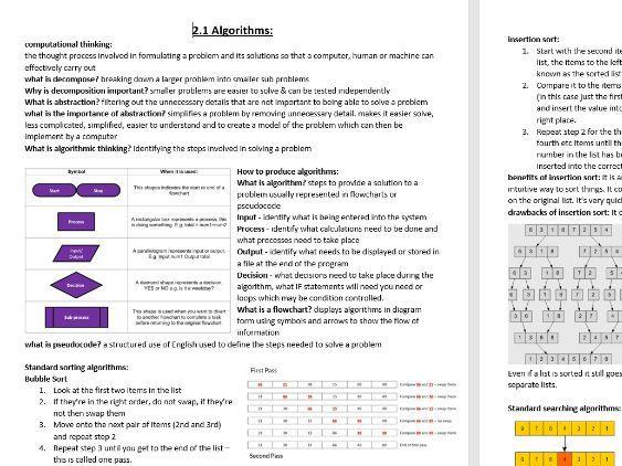 OCR Computing paper 2 complete notes J276 spec