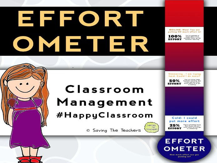 Classroom Management: Effort Thermometer