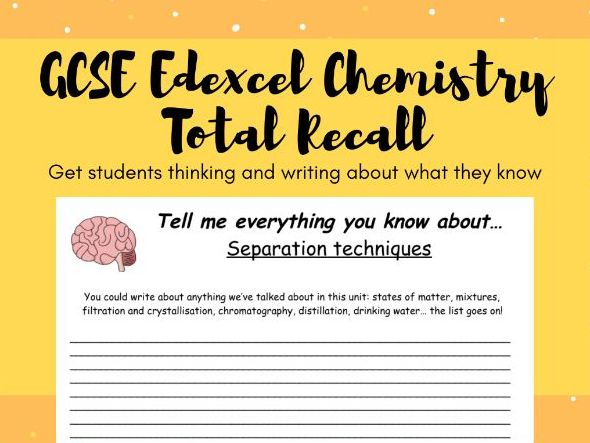 GCSE Edexcel Chemistry (Combined) Total Recall Revision