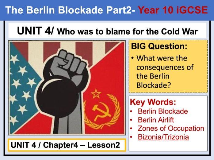Cambridge IGCSE History - Unit 4 - Chapter4 - Lesson2