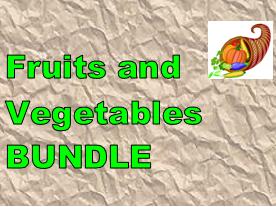 Fruits et Légumes (Fruits and Vegetables in French) Bundle