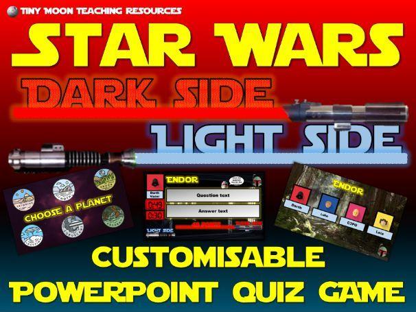 Star Wars Dark Side Light Side PowerPoint Quiz Game