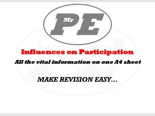 KEY INFO SHEET Influences on Participation