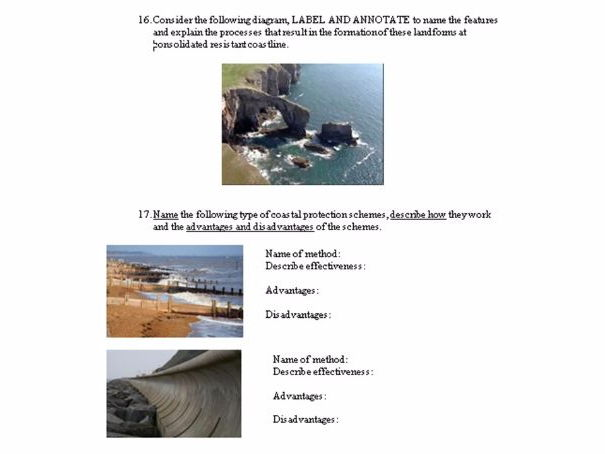 Summer revision booklet Geography - Coasts, Rivers, Flooding, Urban, Rural and Extreme weather