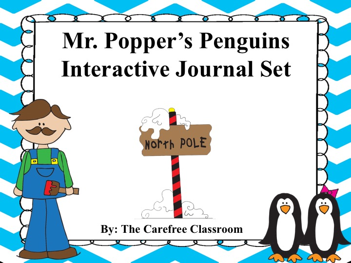 Mr. Popper's Penguins Interactive Journal Novel Study Set