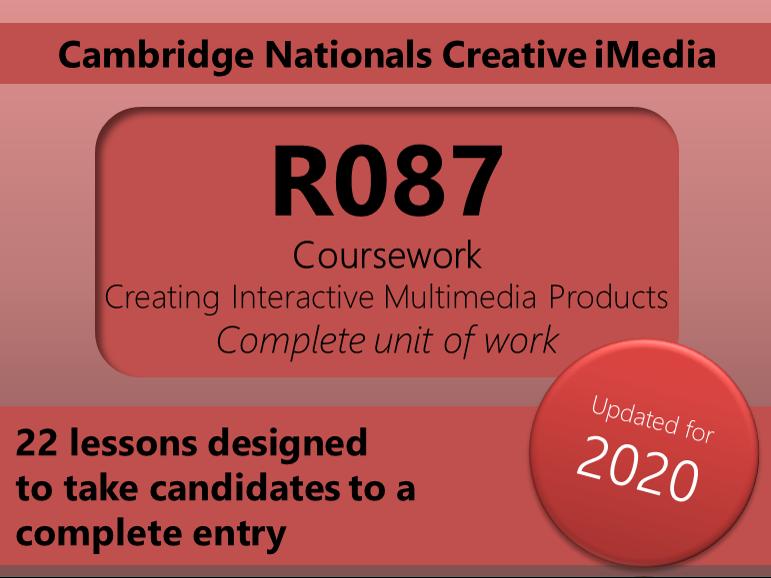 Creative iMedia R087 Unit of work