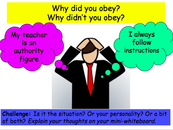Introduction to Psychology (obedience) GCSE taster lesson