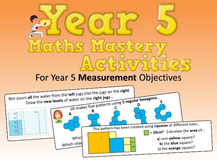 Measurement Mastery Activities – Year 5