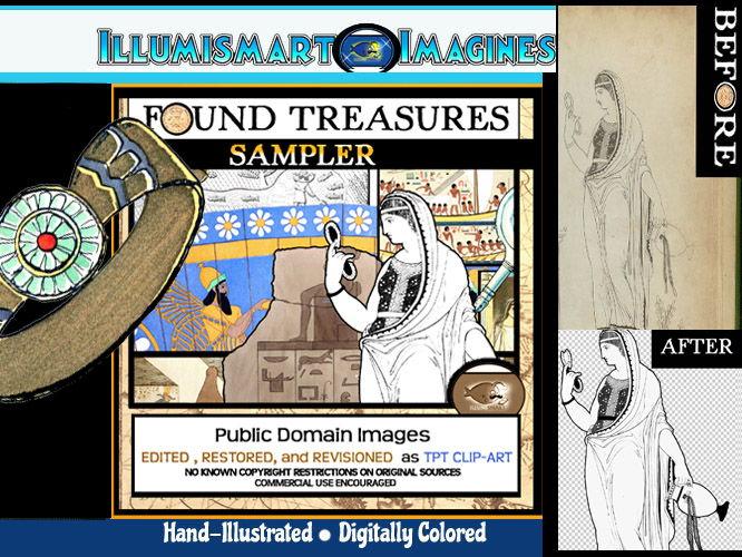 Found Treasures Sampler! FREEBIE 10 Clip-Art Pieces!