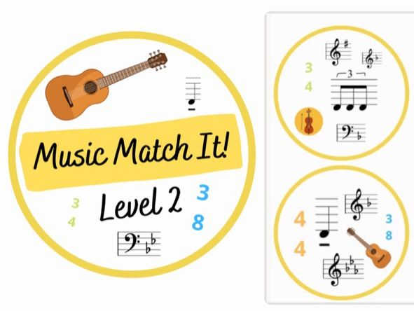 Music Match It  Grade 2 Dobble Style Music Theory Card Game
