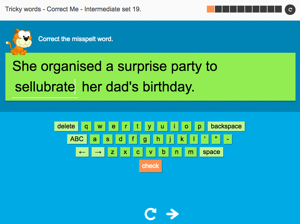 Tricky Words Spelling Interactive Exercise 19 - Intermediate Level - Year 6