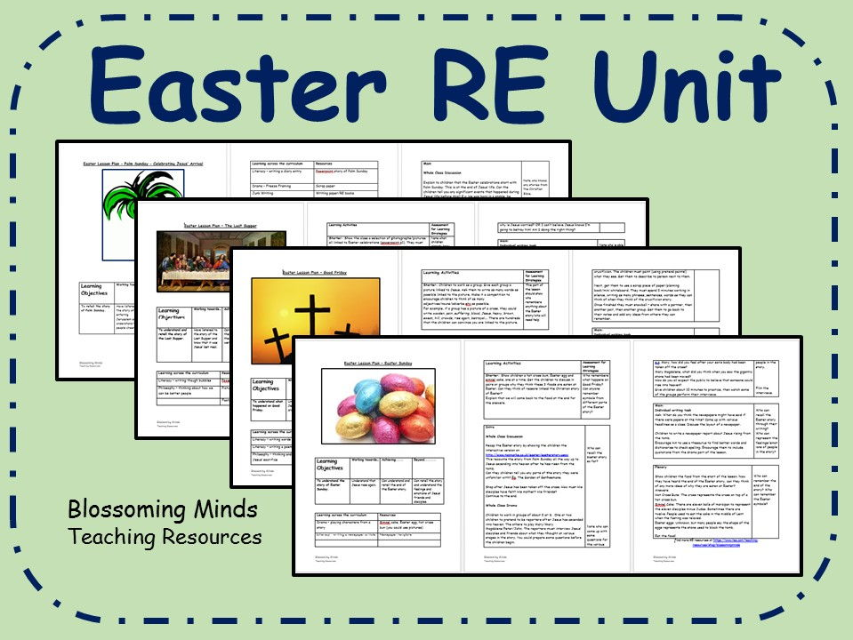 Easter RE 4 week unit