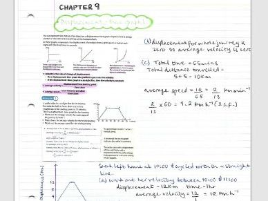 AS Maths Mechanics notes- Chapter 9 (Constant acceleration)