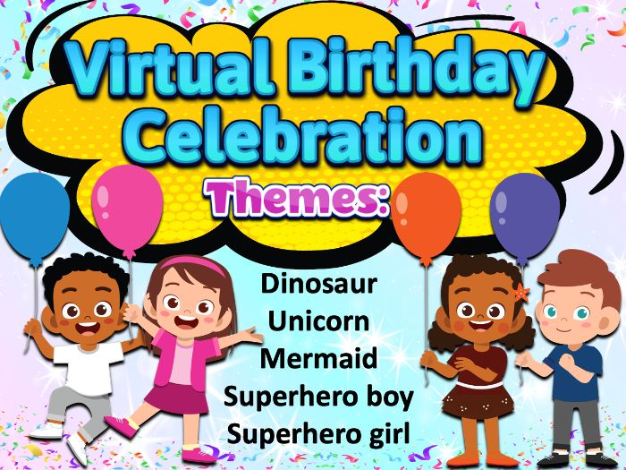 Virtual Birthday Celebration | Powerpoint Template for Distance Learning