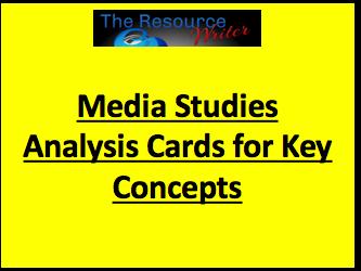 Media Studies Analysis Cards