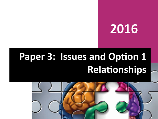Option 1 Relationships - Paper 3 Workbook