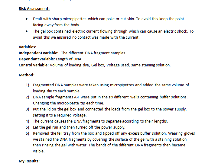 CORE PRACTICAL 14: Use gel electrophoresis to separate DNA fragments of different length.