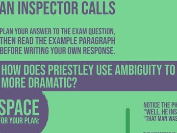 Home School: An Inspector Calls: Ambiguity Example Essay Question and Response