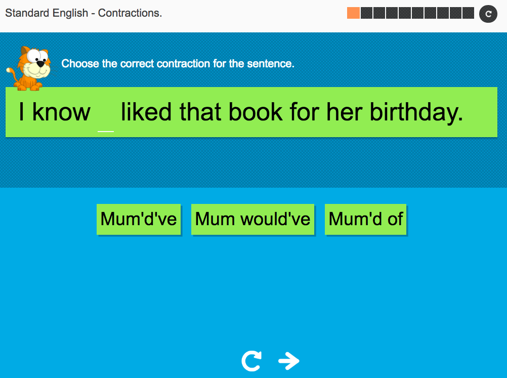 Contractions: Standard English - Interactive Activity - KS3 Spag