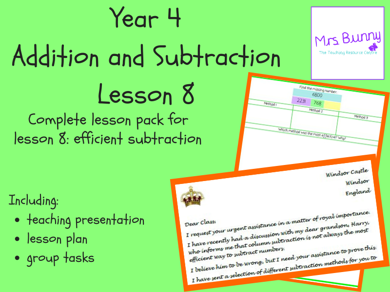 Efficient subtraction lesson pack (Year 4 Addition and Subtraction)