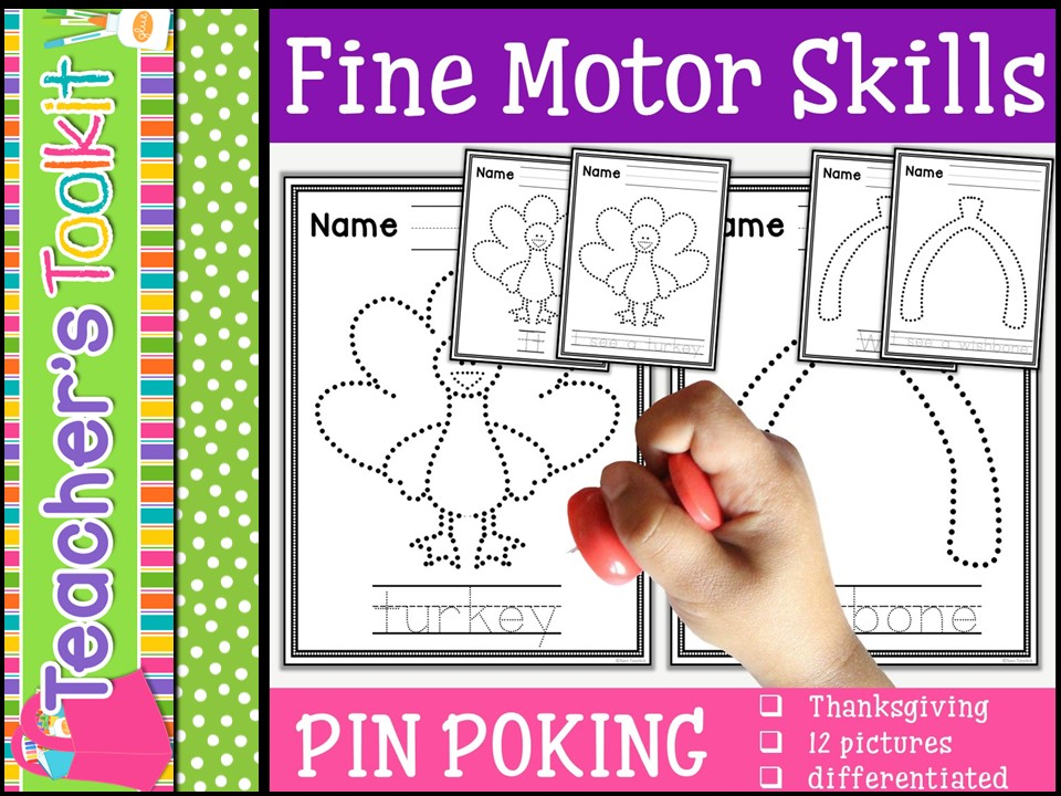 Motor Skills: Pin Poking Thanksgiving