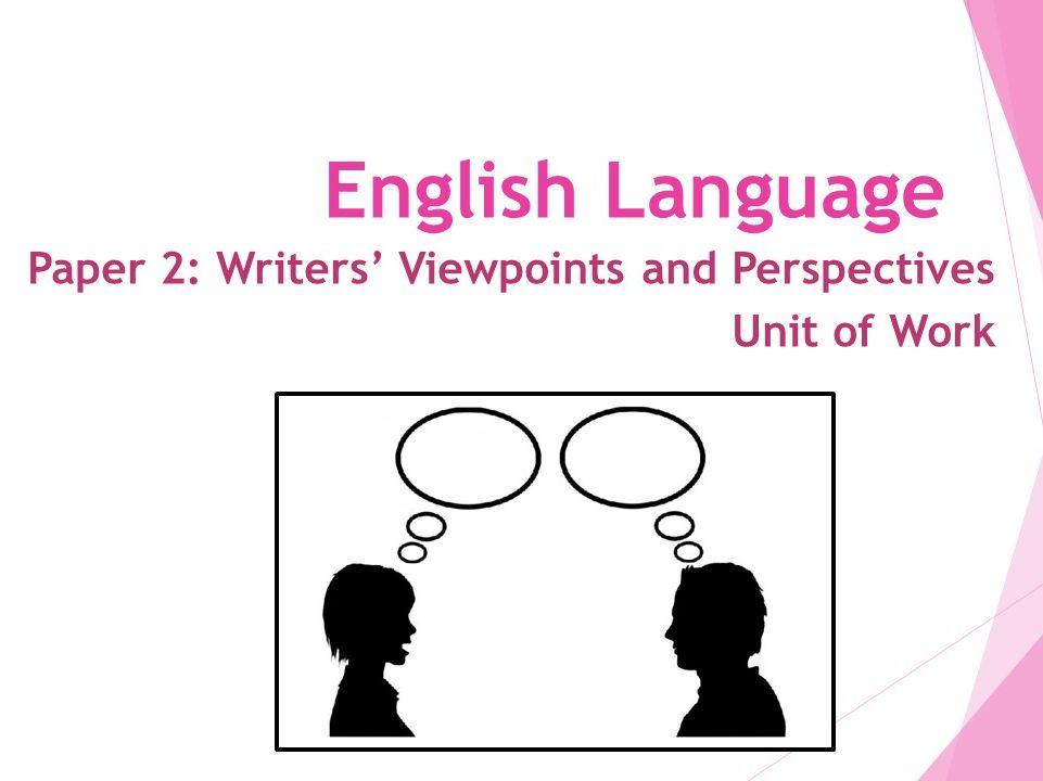 AQA Language Paper 2: 5 Week Scheme of Work