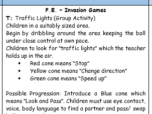 PE - Invasion Games - KS 2 - Attacking and Defending skills