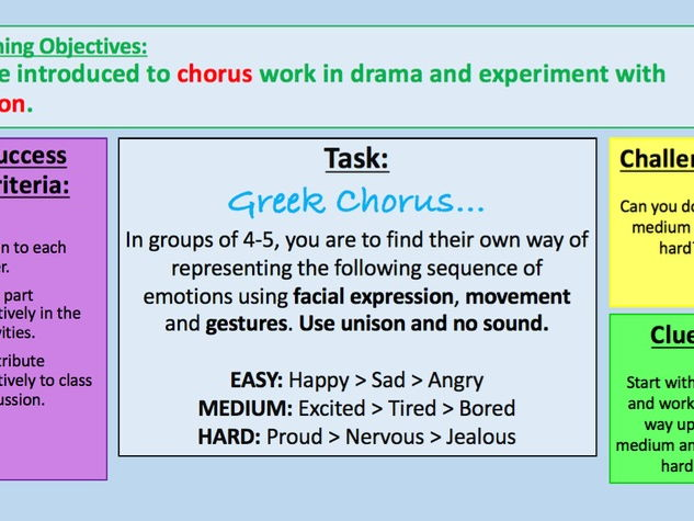 Year 7 Greek Theatre Scheme