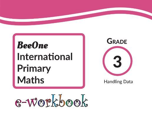 Grade 3 Handling Data workbook of 9 worksheets from BeeOne Books
