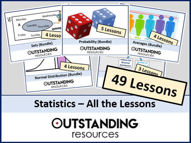 Statistics: All Lessons for GCSE & A-Level (49 Lessons) + All Resources