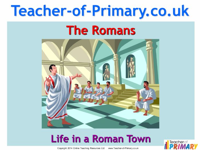 Life in a Roman Town (PowerPoint and worksheets)