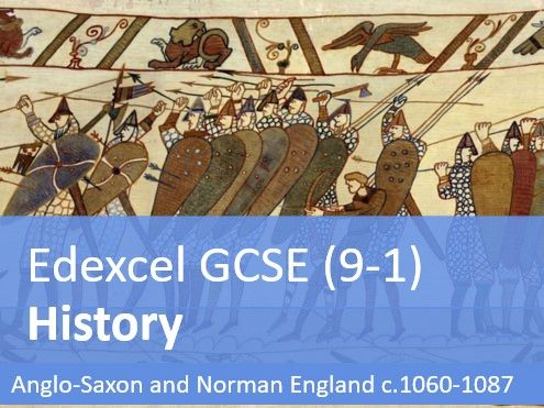 Edexcel GCSE History (9-1) - Anglo-Saxon and Norman England Full Timeline