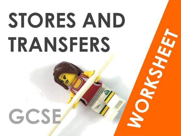 Energy Stores and Transfers - Worksheet