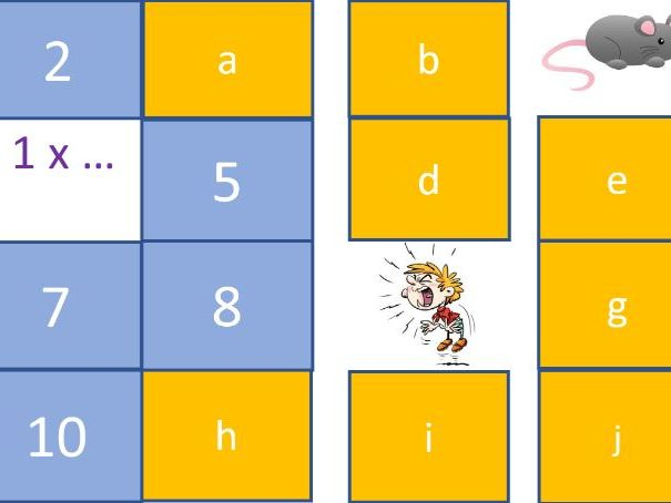 Multiplication Times Tables Silly Voices Powerpoint Fun KS1 KS2 Online Zoom Video Teaching