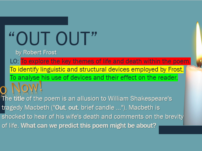 Poem Analysis - 'Out Out' by Robert Frost