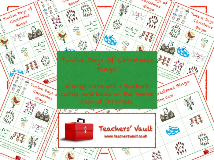 12 days of christmas activities ks1 maths