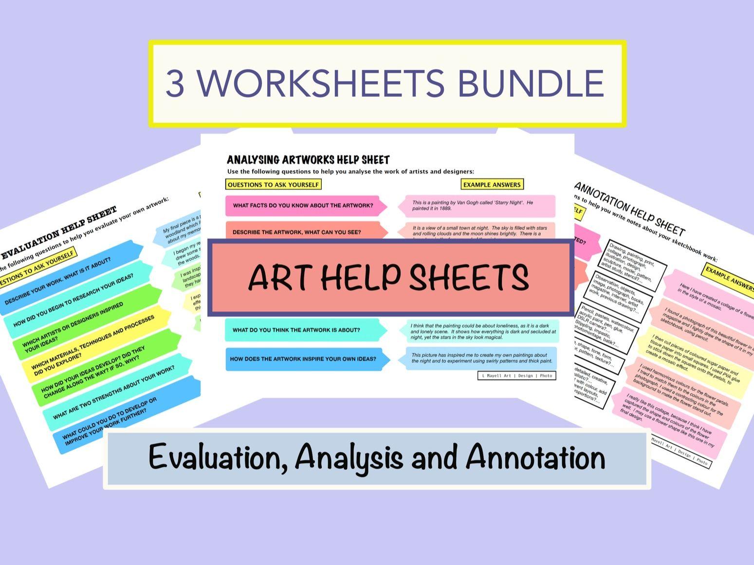 Art Help Sheets Bundle