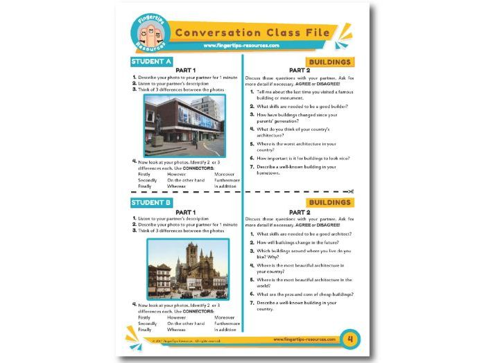Buildings - ESL Conversation Activity