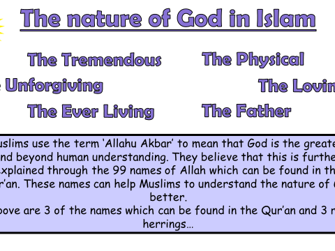 AQA A GCSE Islam Beliefs and Teachings Lesson 3 - Nature of God